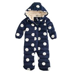 J.Crew | BABY PUFFER SNOWSUIT IN POLKA DOT