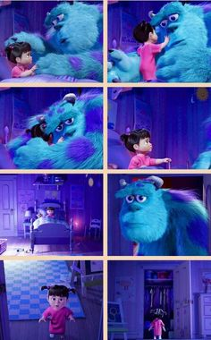 Day 23 most magical part of Movie when mike restores boos door for sully