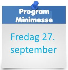 Programmet for vår minimesse på fredag er klart. Foredrag, demo og Silent auction! http://www.luftdesign.no/program_minimesse
