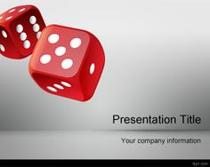 Free Roll the Dice PowerPoint Template is a free PowerPoint background and PPT theme that you can download for gambling presentations or presentations on games