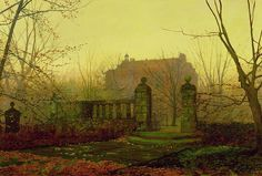 John Atkinson Grimshaw is best known for his powerfully atmospheric paintings of twilight, night-time, and autumnal scenes, and his pictures in the Scarborough Art Gallery reflect this. Description from hoocher.com. I searched for this on bing.com/images