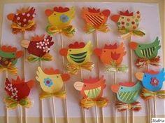 Plate Crafts, Hens, Paper Mache, Toddler Activities, Folk Art, Diy And Crafts, Kindergarten, Spring, Handmade