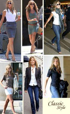 Jennifer Aniston - classic, understated, feminine  LOVE HER