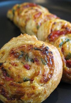 Sun Dried Tomato Parmesan and Basil Pinwheels