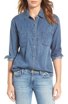 Cool casual look - Rails Carter Textured Stripe Chambray Shirt