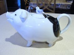 Vintage Takahashi San Francisco Figural Pig Teapot with A Bird on His Back | eBay
