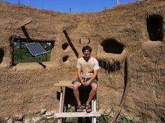 "Kent at Tiny House Blog notes that ""you can build your own cob house with little money, but with lots of time and enthusiasm."" He shows us 24 year-old Ziggy's cob (a mixture of straw, clay, and sand similar to adobe) with a footprint of 360 square feet"