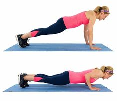 17 Free Weight Exercises for Toned Arms Tricep-Push-Up-Hold_Grouped Arm Workouts At Home, At Home Workout Plan, Arm Flab, Fitness Workout For Women, Toned Arms, Workout Challenge, Physical Fitness, Biceps, Workout Videos