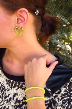 I adore these #neon earrings @Annelise Rowe // Aunie Sauce is wearing!