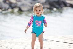 El bañador para bebé con protección solar anti rayos UVA (con factor UPF 50) - Minimoi