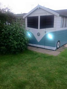 Really funky way of camouflaging a garden shed!