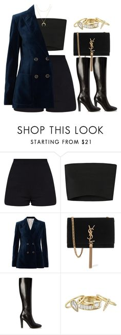 """""""#13940"""" by vany-alvarado ❤ liked on Polyvore featuring Calvin Klein Collection, Sonia Rykiel, Yves Saint Laurent, Alexis Bittar and BaubleBar"""