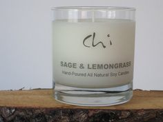Soy Candle sage & lemongrass Scented Soy Candle by ChiCandle, $10.00