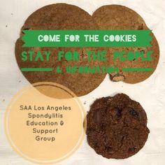 Ankylosing Spondylitis, Support Groups, Community, Cookies, Chocolate, Desserts, Food, Crack Crackers, Tailgate Desserts