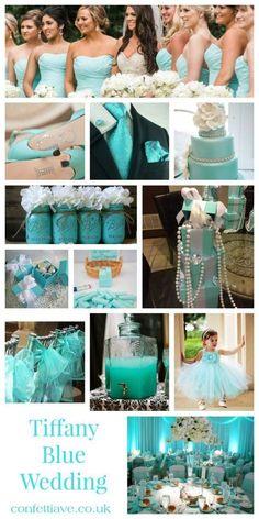 tiffany blue wedding mood board #TiffanyBlueWeddings