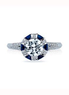 Tacori Simply Tacori Half-Moon Sapphire Engagement Ring