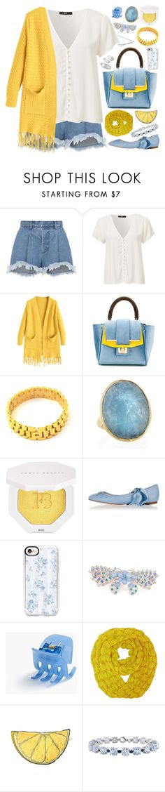 """Shimmy Shimmy: Fringe"" by megan-vanwinkle ❤ liked on Polyvore featuring Ksenia Schnaider, Alila, Marco Bicego, Puma, Ralph Lauren, Casetify, J.Crew, Silken Favours, Miadora and Blue"