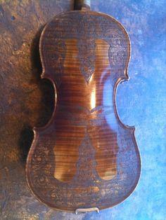 O.M. Robinson violin made in 1908, filigreed back