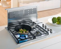 """Miele DA6480500 30"""" Telescopic Downdraft Ventilation Hood with 500 CFM Internal Blower, 4 Fan Speeds, 15 min. Delayed Shutdown, Stainless Steel Filters and Electronic Controls with LED Indicators"""
