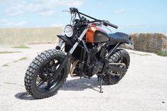 Honda #CBF500 #scrambler by @kevils1. Beastly!