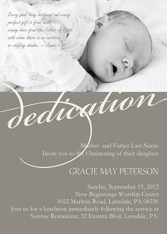 Modern Baby #Dedication #Christening #Baptism Photo Invitation by DiconshaDesigns, $9.00, Navy Blue and Cream