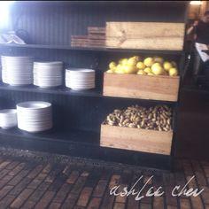 A beautiful example of restaurant organization. #Restaurant #Shelves #Organization