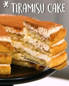 Cake Talk about a showstopping dessert ? Tiramisu Cake (Via )Talk about a showstopping dessert ? Tiramisu Cake (Via ) Yummy Recipes, Easy Cake Recipes, Sweet Recipes, Delicious Desserts, Dessert Recipes, Cooking Recipes, Yummy Food, Tiramisu Recipe, Tiramisu Cake