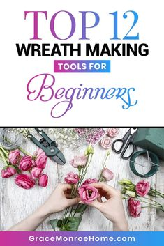 Wreath Making Tips: Top 12 Wreath Making Tools for Beginners Deco Mesh Crafts, Wreath Crafts, Deco Mesh Wreaths, Diy Wreath, Floral Wreaths, Door Wreaths, Yarn Wreaths, Tulle Wreath, Burlap Wreaths