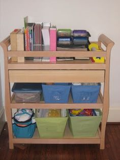 The Frugal Mom: Feb week # 4 - Recycle your changing table