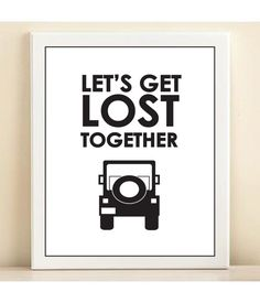 Let's Get Lost print poster by AmandaCatherineDes on Etsy,
