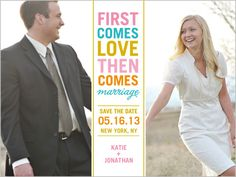 First Comes Love Save The Date