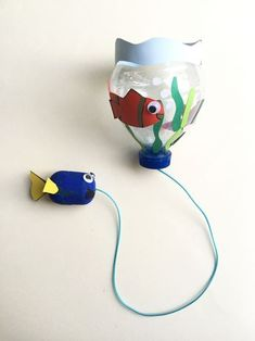 "{DIY} Un bilboquet ""Le monde de Dory!"" Projects For Kids, Diy For Kids, Crafts For Kids, Diy Projects, Creations, Activities, Fabric, Wordpress, Moma"