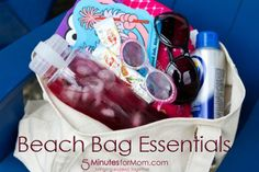 Beach Bag Essentials - http://www.5minutesformom.com