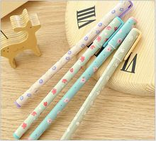 2pcs/ lot FRESH Flowers Story series Ballpoint pen/Good quality/School supplies/ stationery/papelaria WJ0086(China (Mainland))