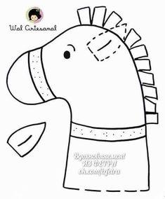 "Képtalálat a következőre: ""sv. martin na bílém koni pracovní list"" Felt Patterns, Craft Patterns, Stuffed Toys Patterns, Anniversaire Cow-boy, Stick Horses, Horse Party, Cowboy Birthday, Animal Crafts For Kids, Horse Pattern"