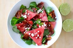 Watermelon and Crispy Prosciutto Salad