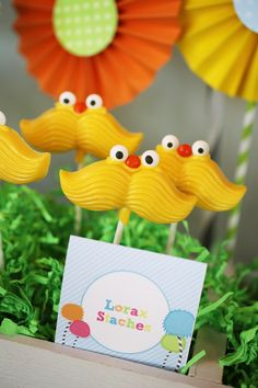 DIY! Create your own Lorax Staches. #DIY #lorax