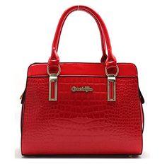 Coofit Alligator Pattern Shoulder Bag Patent Leather handbags for Women Red Coofit http://www.amazon.com/dp/B0156LWB9A/ref=cm_sw_r_pi_dp_jxqCwb0CG9E5K