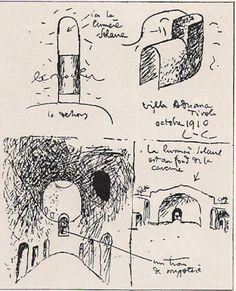 le Corbusier's sketches from Villa Adriana