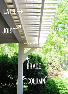 pergola designs attached to house pictures | Building A Garage Or Carport Pergola | Young House Love #pergoladesigns
