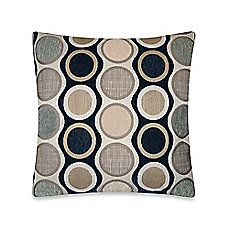 Circle Chenille Throw Pillow in Blue Bed, Bath and Beyond
