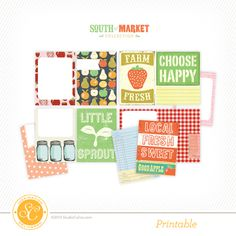 Picture of South of Market Free Printable Journal Cards