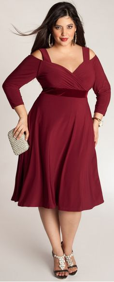 67 Best Curvy Red Dress Images On Pinterest Chic And Curvy Curvy