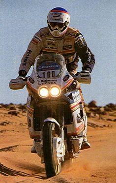 Gilles Lallay, Honda NXR 820 V, Dakar Rally 1989.