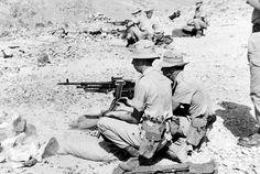 3rd Battalion, The Royal Anglian Regiment, using General Purpose Machine Guns (GPMG), Aden, 1966 (c)