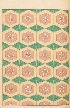 Beautiful old Japanese pattern in Shinbijutsukai magazine from the archives of the Smithsonian Institution Libraries