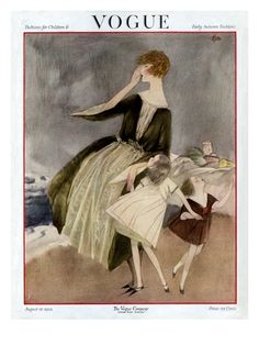 Vogue Cover ~ Early Autumn Fashion ~ August 1922