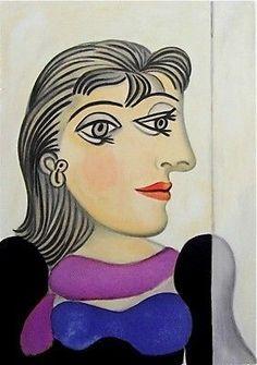 Buste de Femme au Foulard Mauve, Ltd Ed Lithograph, Pablo Picasso                                                                                                                                                                                 Mehr