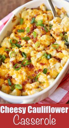 Healthy Recipes An amazingly rich and tasty cauliflower casserole is keto and low carb. - An amazingly rich and tasty cauliflower casserole is keto and low carb. Healthy Food Blogs, Healthy Recipes, Yummy Recipes, Cooking Recipes, Recipies, Tasty Vegetable Recipes, Salad Recipes, Low Carb Vegetarian Recipes, Healthy Appetizers