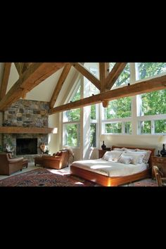 Love the open windows and high ceiling!